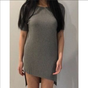 Zara Grey T-shirt Dress Size: S